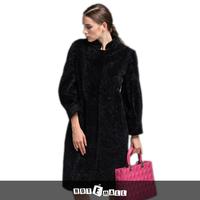 free shipping new arrival lamb fur coat women underwear frozen coat winter mandrain x-long plus size coat natural women fur coat