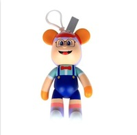 Xiao yun 5 inch spectacled bear keychains cartoon figures Creative key pendant Car interior  accessories