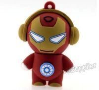 Rubber Pendrive 64GB Ironman USB flash drive, flash memory 64G Iron man gift box free shipping
