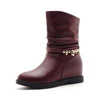 Platform elevator women's shoes flat fashion martin short boots high-heeled boots