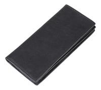 Multi-function Men Wallets black designs High-grade Napa grain Stripe cow leather  Internal Zipper purse