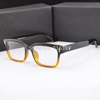 2015 New fashion 8 Colors V-Sign plain mirror glasses men/women retro myopia eyeglasses frame optical prescription eyewear frame