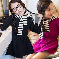 Free shipping -5pieces/lot -2015 spring new girls dress + striped hat scarf - princess tutu dress