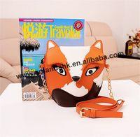 2015 new The new ultra-cute mini-packet Meng owl small fox retro hit color handbag bag Shoulder Messenger Bag