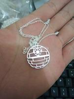 2015 Wholesale Fashion Round Necklace 18K Gold/ Silver Death Star Necklace Pendant Women Necklace,DN001