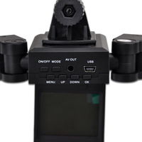 Latest HD DV Dual Camera Lens Car Vehicle DVR Recorder + 8 IR Night Vision Light