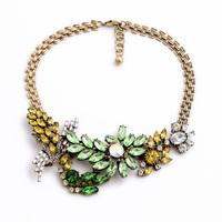 Factory Price Wholesale Romantic Bright Rhinestone Necklace Charming Statement Shourouk Necklaces Pendants