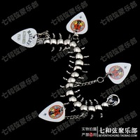 Personalized Evil Centipede Design Guitar Picks Plectrums Metal Bracelet hand chain