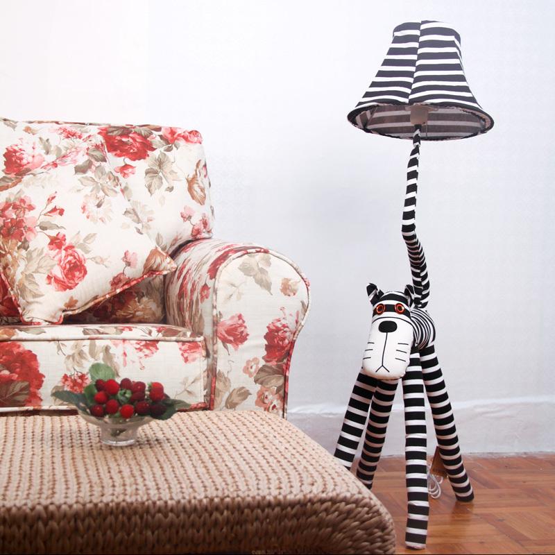 Free shippingModern minimalist stripe cat cartoon star who IKEA bedroom living room floor lamp creative children's room lamp 111(China (Mainland))