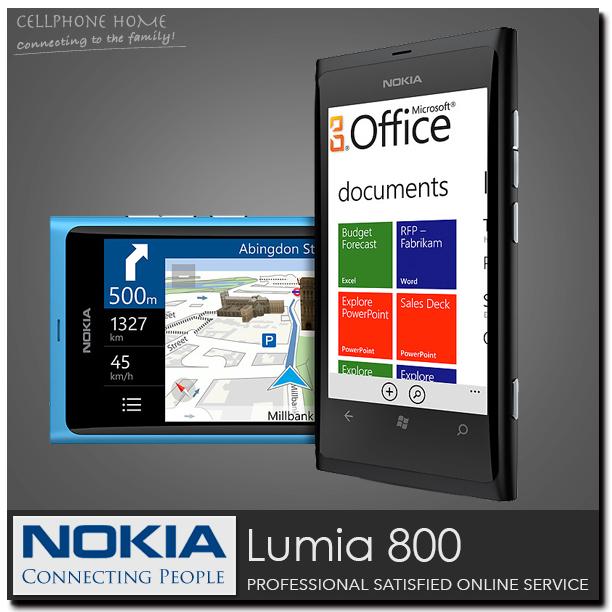 "Unlocked Windows 7.5 Mobile Phone Original Nokia Lumia 800 Refurbished WCDMA 512MB+16GB Storage 3.7""IPS 8MP WIFI 3G Cell Phones(China (Mainland))"