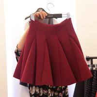 The new 2014 ms qiu tall waist skirt space cotton, lori bitter fleabane bitter fleabane skirt pleated fishtail skirt fashion