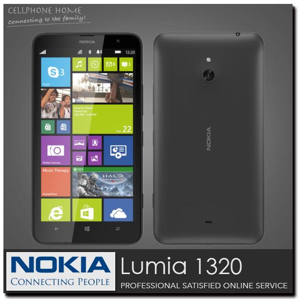 "original phone lumia 1320 Windows Phone 8.0 nokia Lumia 1320 6"" Mobile Phone ROM 8GB Camera 5MP Wifi GPS Bluetooth 3G cell phone(China (Mainland))"