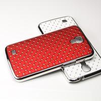 1 x Luxury Rhinestone Bling Hard Case Chrome Cover For Samsung Galaxy Mega 6.3 I9200 I9208 P729 Mobile + Free Screen Protector