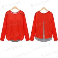New Fashion 2015 Spring autumn plus size tee t shirt Women clothing Casual Loose Long Sleeve camisetas Tops roupas femininas