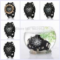 15pcs/lot OHSEN AD2818 Analog-Digital Quartz Watch 2 Time Zones multi-function fashion sports mens' Watches