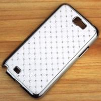 1 x Luxury Rhinestone Bling Hard Case Chrome Cover For Samsung Galaxy Note II N7100 N7108 NOTE II Cover + Free Screen Protector