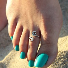 Hot Sale Women Lady Unique Retro Silver Plated Nice Toe Ring Foot Beach Jewelry