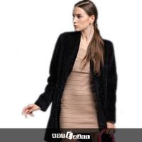 2014 new arrival free shipping natural lamb fur coat long v neck women fur garment fashion chistmas gift hotsell plus size slim
