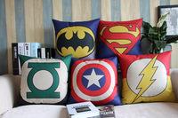 Green Lantern,Superman, Batman, The Hulk ,American Captain, Iron Man,The Flash  Pillow Cover/ Cushion cover/Pillow /Cushion