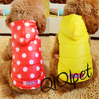 2 pet clothes teddy bear dog clothes autumn and winter polka dot reversible cotton vest top