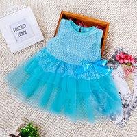 4pcs 2015 Children girl's Summer Sleeveless princess sweet dress bowknot 5colors 1848