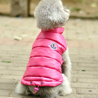 free shipping pet clothes teddy dog clothes autumn and winter thickening thermal down vest Material100% Cotton vest