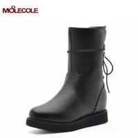 2014 elevator flat women's shoes high-heeled boots martin boots a6068-3