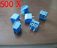 500PCS 2 Pin 2-way Screw Terminal Block Connector 5mm Pitch Panel PCB Mount