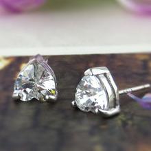zircon 925 silver love stud earring sterling silver earring wholesale 2015 love earring wholesale free shipping