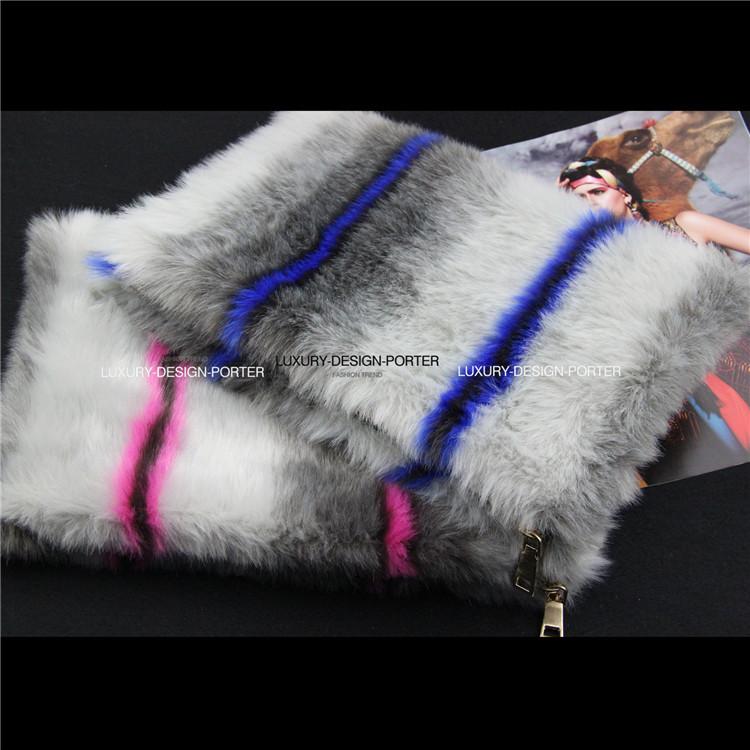 AliExpress.com Product - Designer 2c Faux Fur Neon color lightning Clutch bag Purse Runway style bag Bolsa