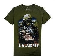 Hot 2015 Fashion Summer Basic Underwear Tee High Quality Cotton usa army Soldier Aviation T Shirt Hip Hop Men WOmen T-shirt