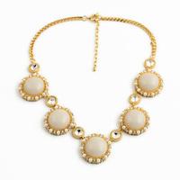 Korean Pop Simulated Pearls Edge Round Resin Pendants Fashion Chocker Necklace Women