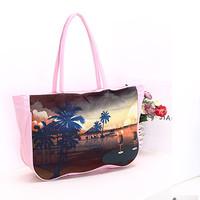 New arrived 2015 fashion trend beach Landscape handbag European and American style handbag Temperament lady handbag