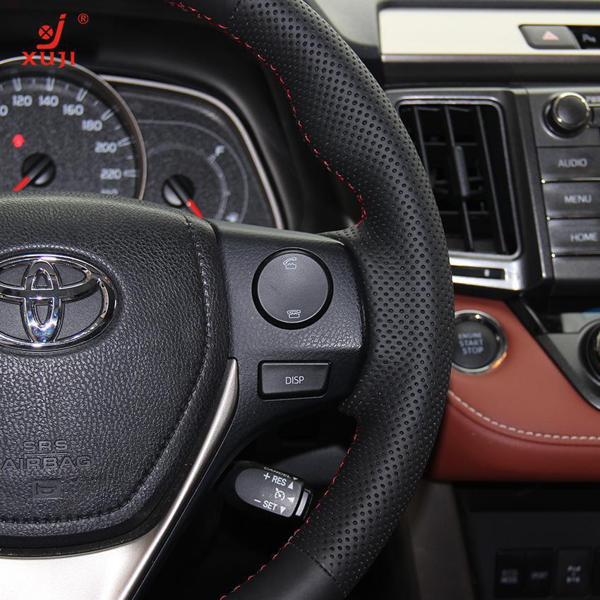 Toyota Corolla 2013 Black Rims Steering Wheel Cover For 2013 Toyota Rav4 2014 Toyota Corolla Xuji Car