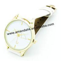 100pcs/lot 2015 New High Quality Leather Brand Quartz Watches Casual Ladies Women Men Dress Watch Umbrella Pattern WristWatch