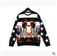 Free Shipping High quality, 3D Printed Beautiful Women  black man Print Sweater, 3D Sweatshirt Men Women