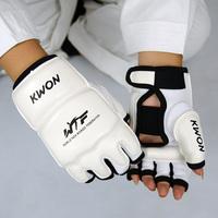Leather Half Finger Fight man women children Boxing Gloves Mitts Sanda Mma Muay Thai Kick Boxing