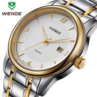 WEIDE 2014 New Sport watch Relogio Fashion 30m Waterproof Japan movement analog Calendar Full steel Watches Men Wristwatch