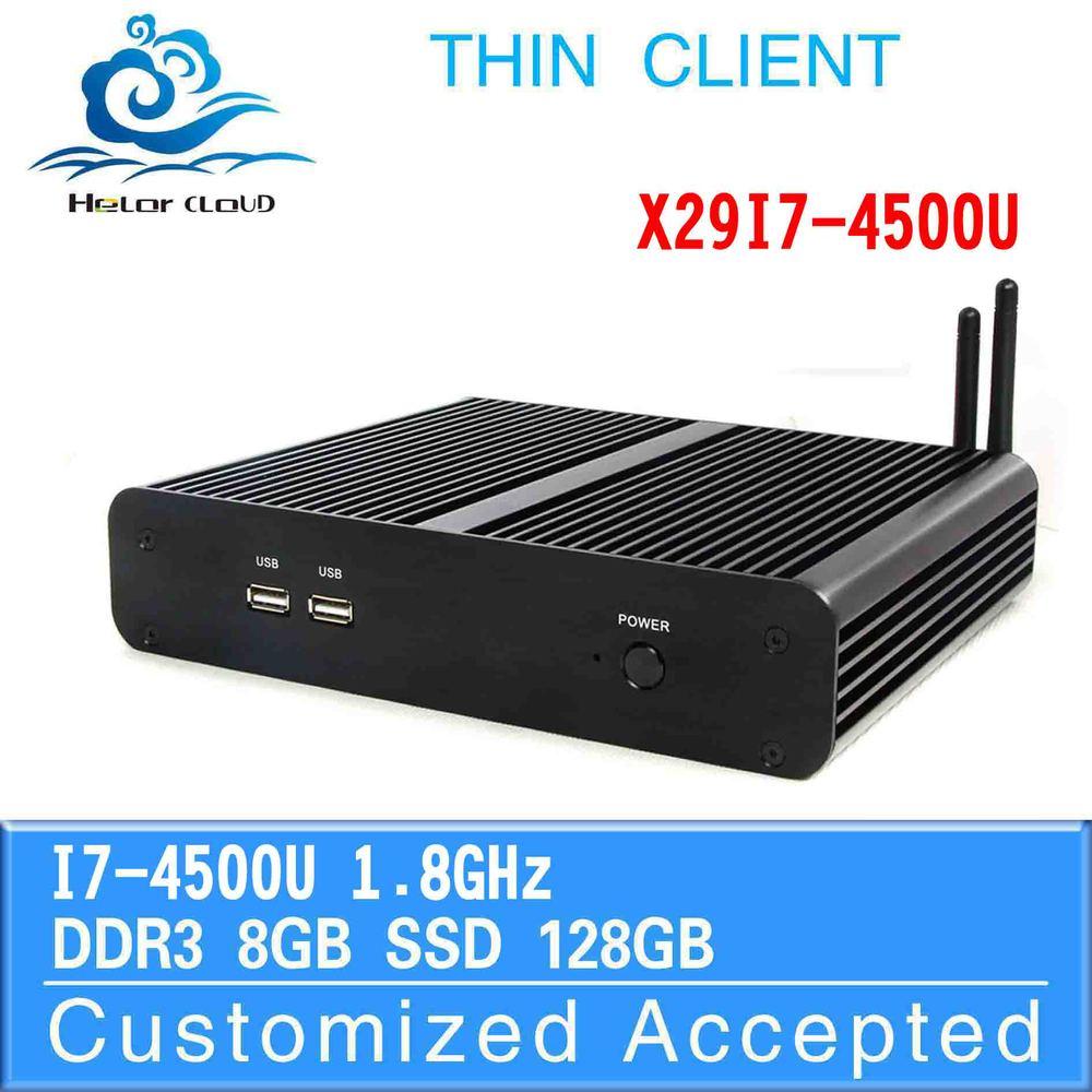 factory top selling x86 mini pc x29-i7 4500u network 8g ram 128g ssd build-in-wifi 4K internet bar gaming pc itx tv media player(China (Mainland))