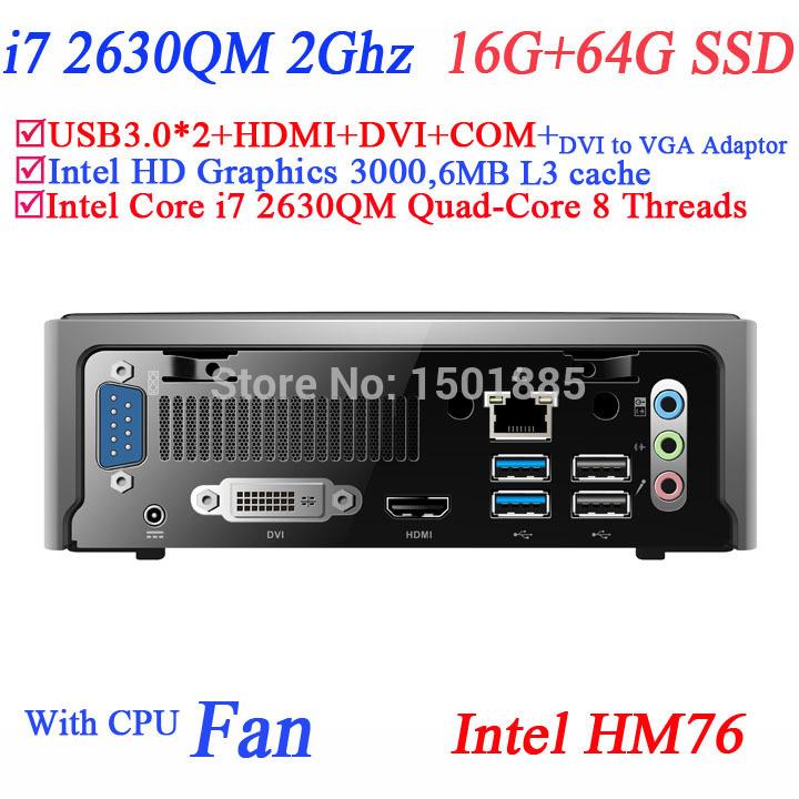 2015 new cheap mini pc station thin client,i7 mini pc with Intel Quad Core i7 2630QM 2.0Ghz 8 threads(China (Mainland))