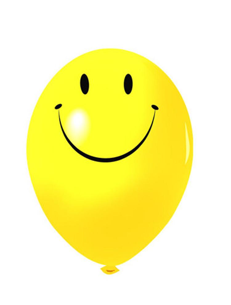 200Pcs/Lot 10inch Latex Yellow Smile Balloons,Festival Party Decoration Round Ballons wedding birthday balloons(China (Mainland))