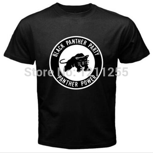New Black Panther Party Logo Malcolm X Men's T Shirt Short Sleeve Men Clothing Print Custom T Shirt Camisetas Tops Tees(China (Mainland))