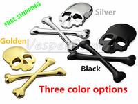 3D Personalized Car Sticker Skull Badge Auto Metal Skull Bone Logo Decorative Part For Jeep SUV Harley Honda Yamaha Toyotao