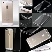 """500pcs For iPhone 4 4s 5 5s 6 4.7"""" / Plus 5.5"""" 0.5mm Ultra Thin Slim Crystal Clear Transparent Soft Silicone TPU Case Cover"""