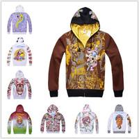HOT SALE Man ed fashion brand mens hoodies and sweatshirts cardigans hip hop spot 3d hardy harajuku sweatshirt hoodie