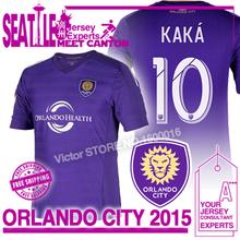 neue Orlando Stadt 2015 trikot trikot 14 15 Hause lila fußball trikot-kit kaka 10 Gerrard Major League Soccer(China (Mainland))