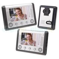 7 Inch TFT LCD Monitor Door Phone Camera Video Intercom System Video Door Bell ES71