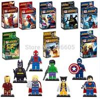 Marvel Super Heroes The Avengers Minifigures Iron Man Batman Superman Spiderman Building Block Set Model Bricks Toy original box