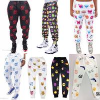 2015 Spring New Women's emoji joggers men/women jogging pants print cartoon emoji fashion gym running sport sweatpants joggers