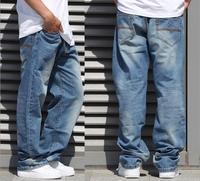 European fashion big yards board shorts wash comfortable straight jeans Men's Casual Denim pants